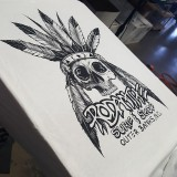 HIghly detailed head dress piece for our North Carolina surf brand client.